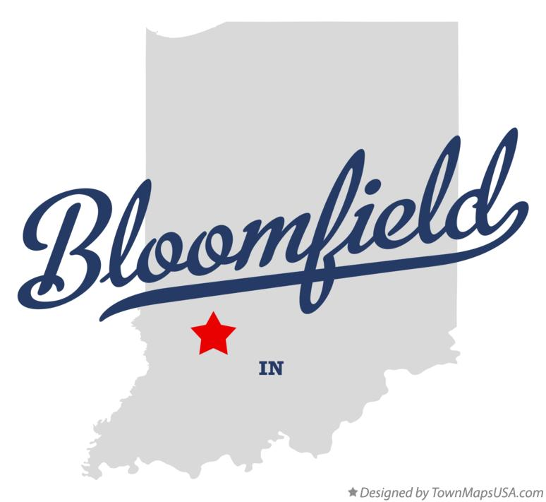 Map of Bloomfield Indiana IN