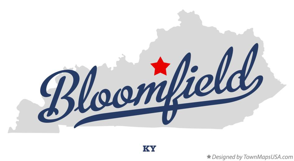 Map of Bloomfield Kentucky KY