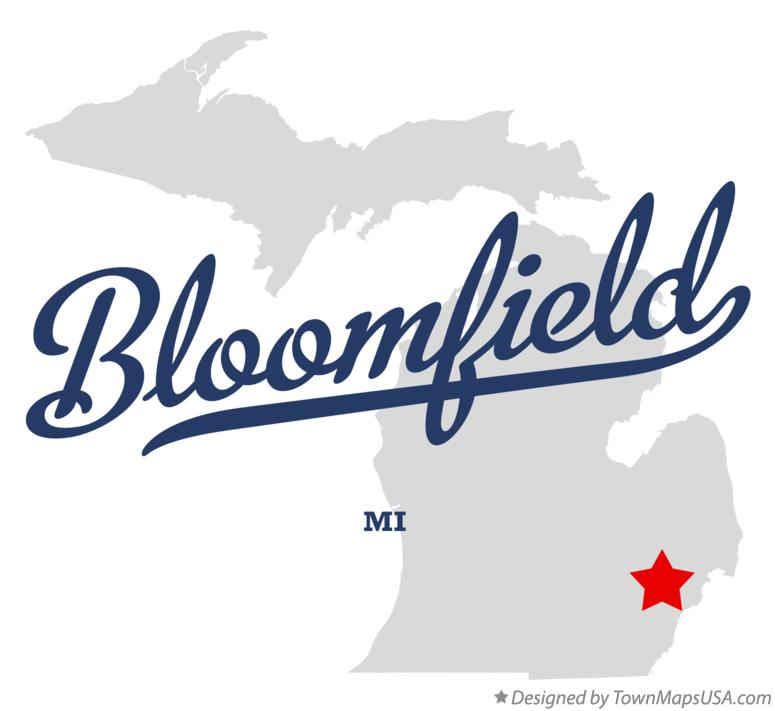 Map of Bloomfield Michigan MI