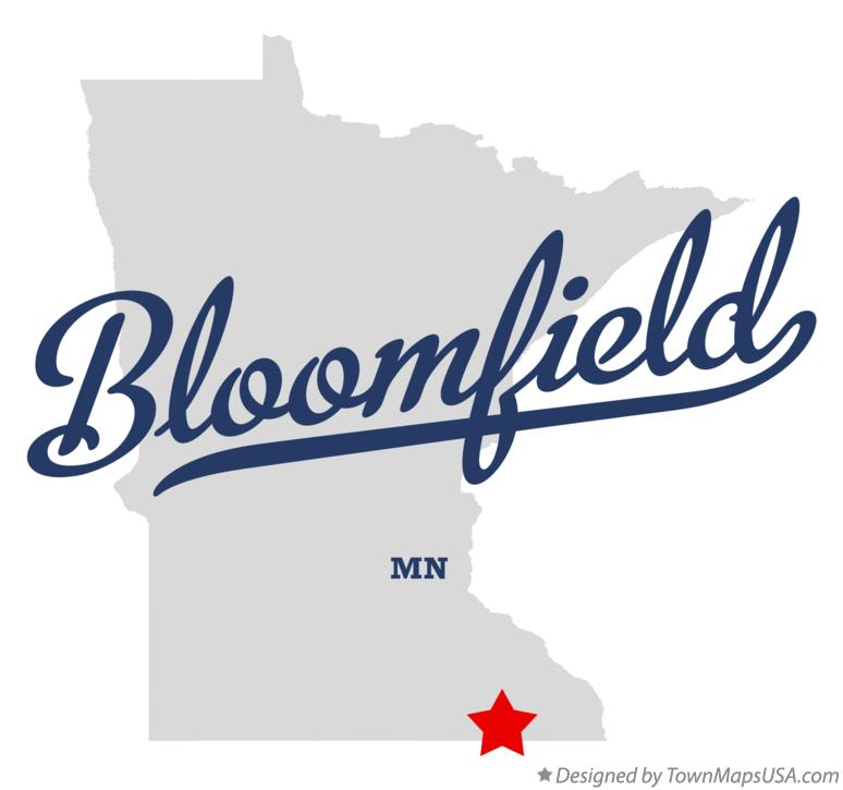 Map of Bloomfield Minnesota MN