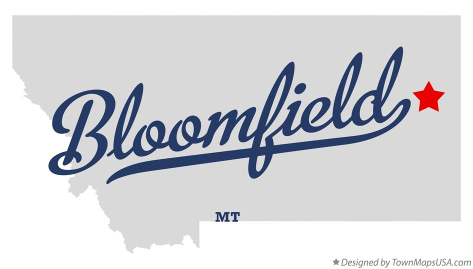 Map of Bloomfield Montana MT