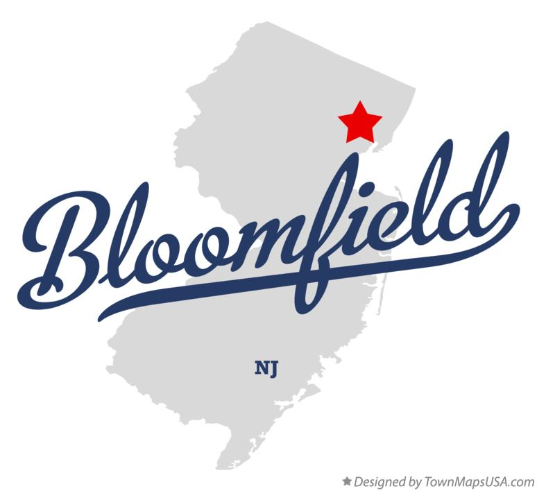 Map of Bloomfield New Jersey NJ