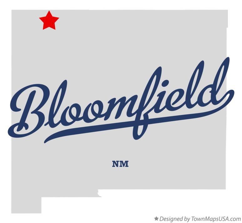 Map of Bloomfield New Mexico NM