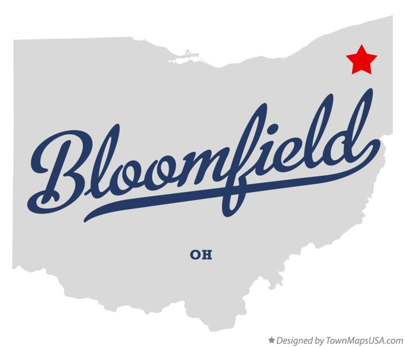 Map of Bloomfield Ohio OH