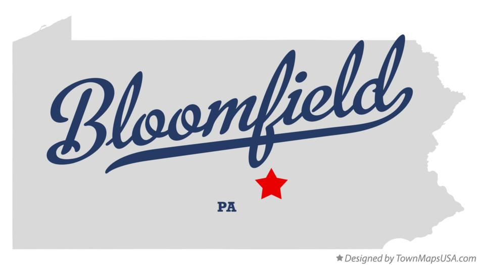 Map of Bloomfield Pennsylvania PA