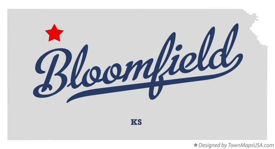 Map of Bloomfield Kansas KS