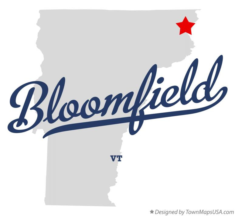 Map of Bloomfield Vermont VT