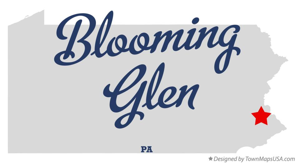 Map of Blooming Glen Pennsylvania PA