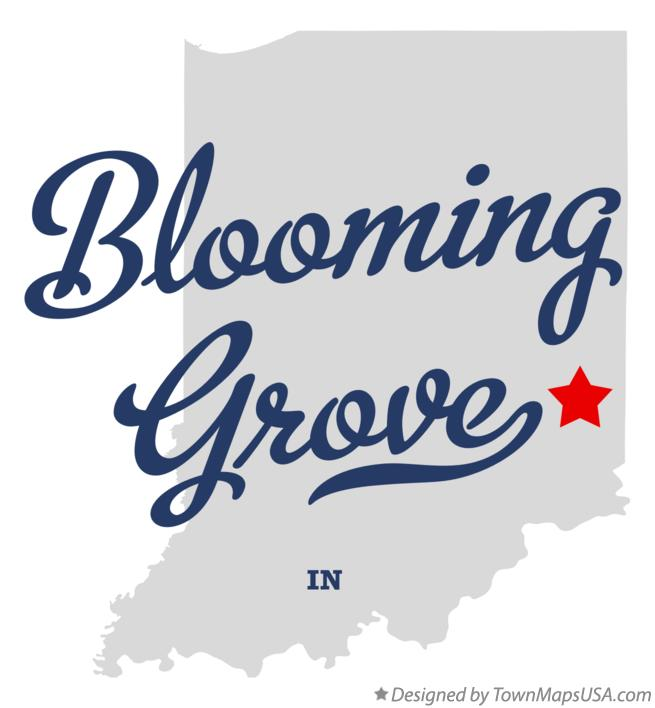 Map of Blooming Grove Indiana IN