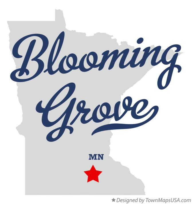 Map of Blooming Grove Minnesota MN
