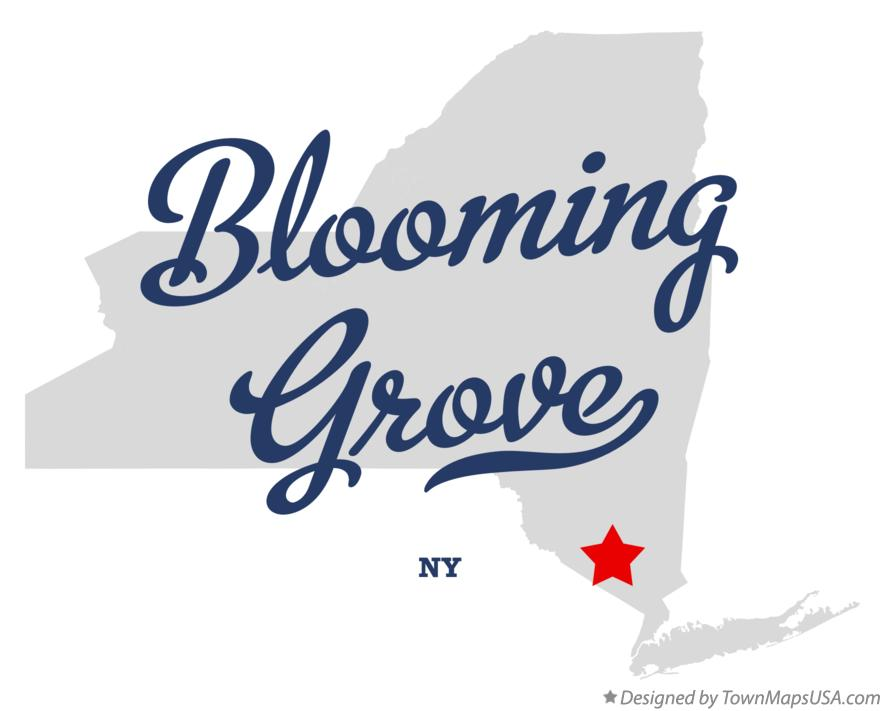 Map of Blooming Grove New York NY