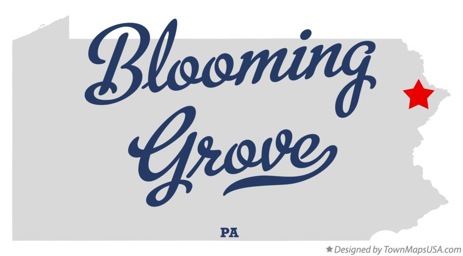 Map of Blooming Grove Pennsylvania PA