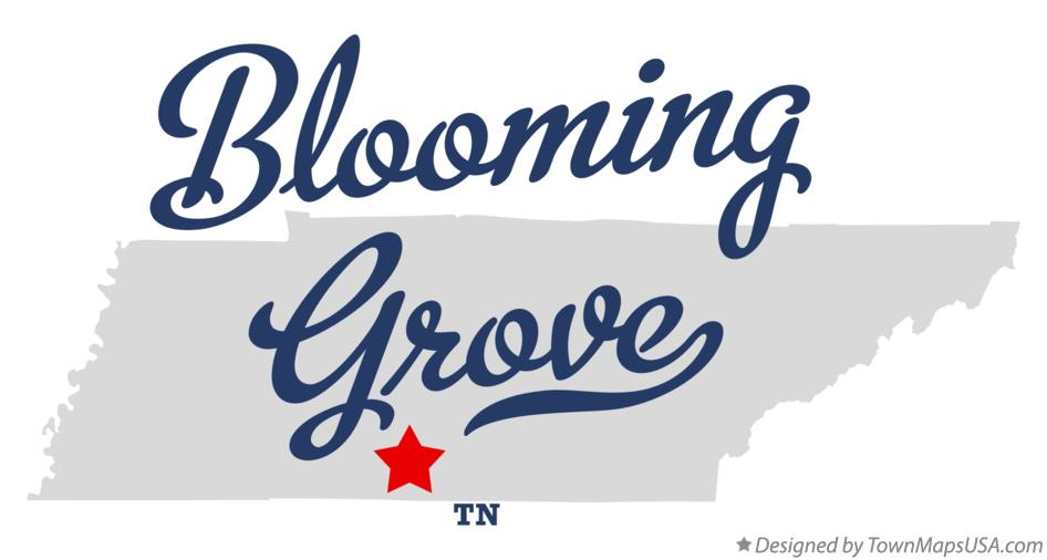 Map of Blooming Grove Tennessee TN