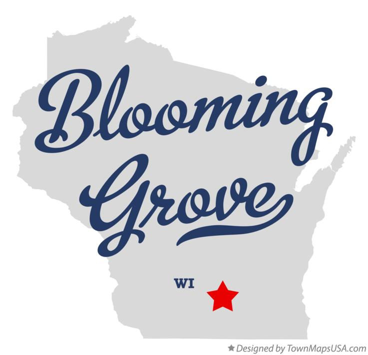 Map of Blooming Grove Wisconsin WI
