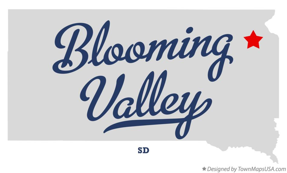 Map of Blooming Valley South Dakota SD