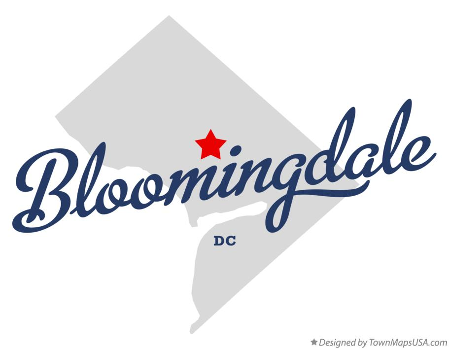 Map of Bloomingdale District Of Columbia DC