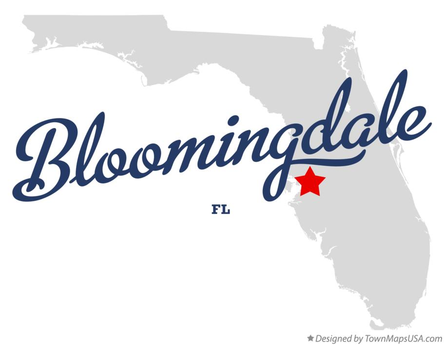 Map of Bloomingdale Florida FL