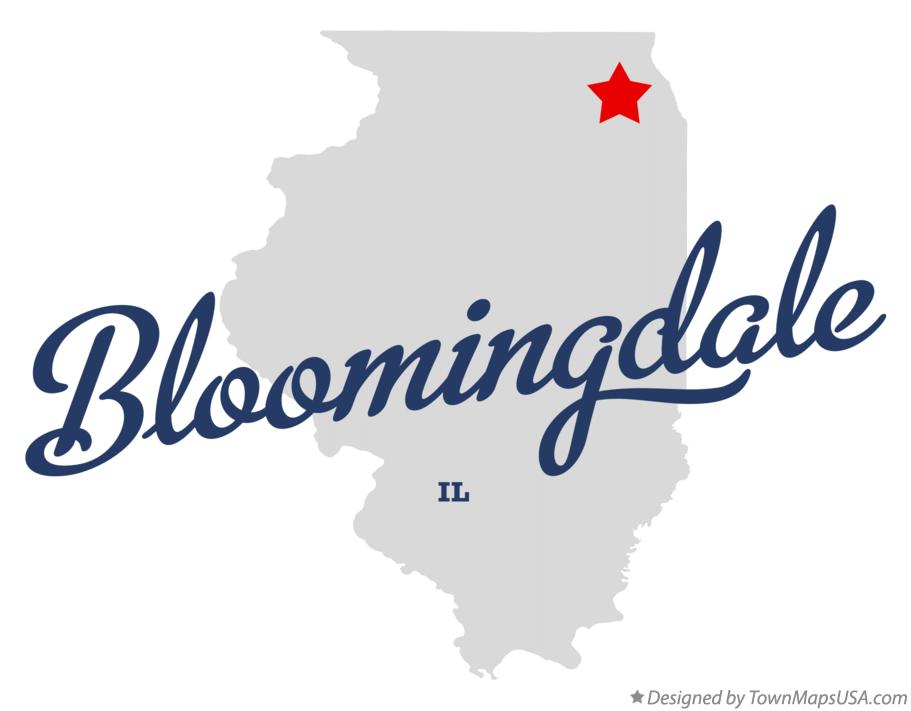 Map Of Bloomingdale Il Illinois