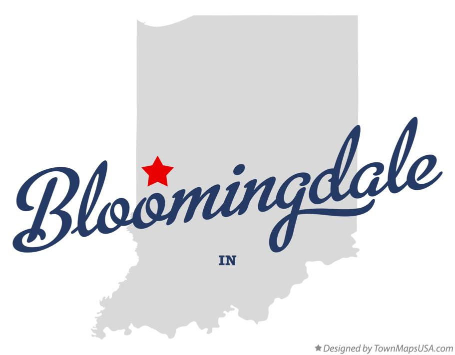 Map of Bloomingdale Indiana IN