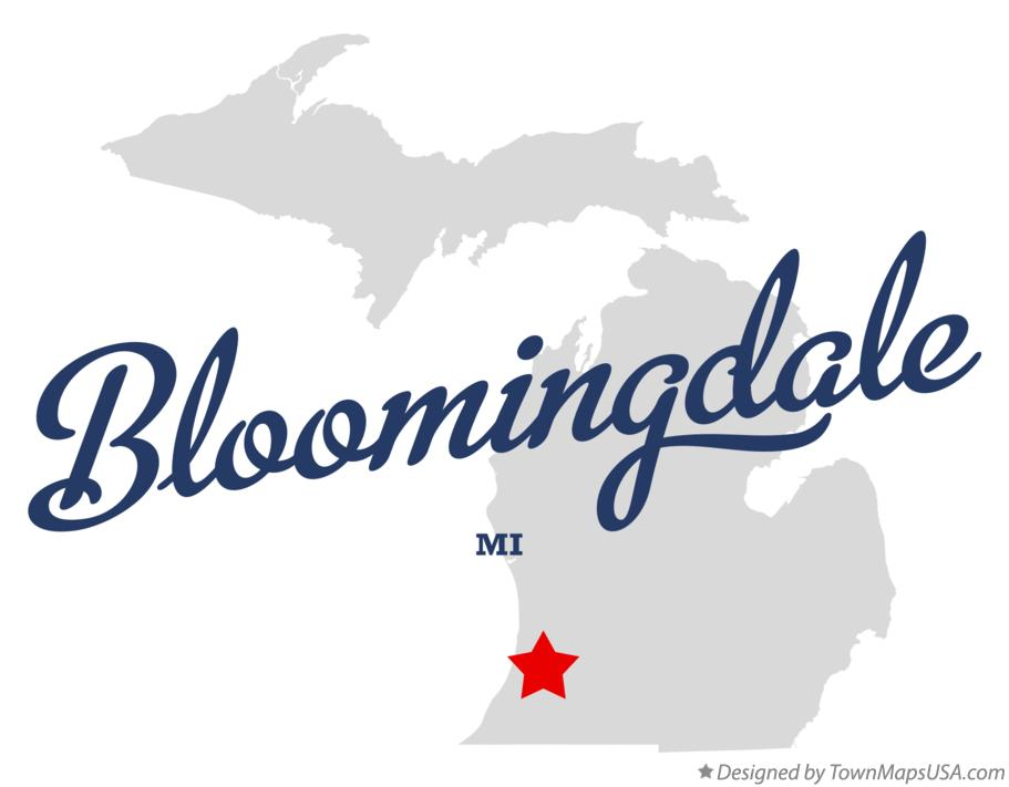 Map of Bloomingdale Michigan MI