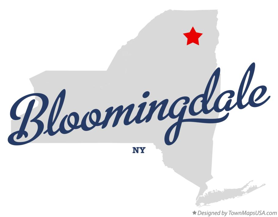 Map of Bloomingdale New York NY