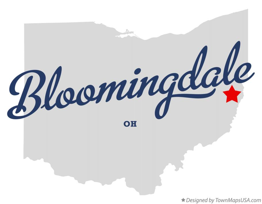 Map of Bloomingdale Ohio OH