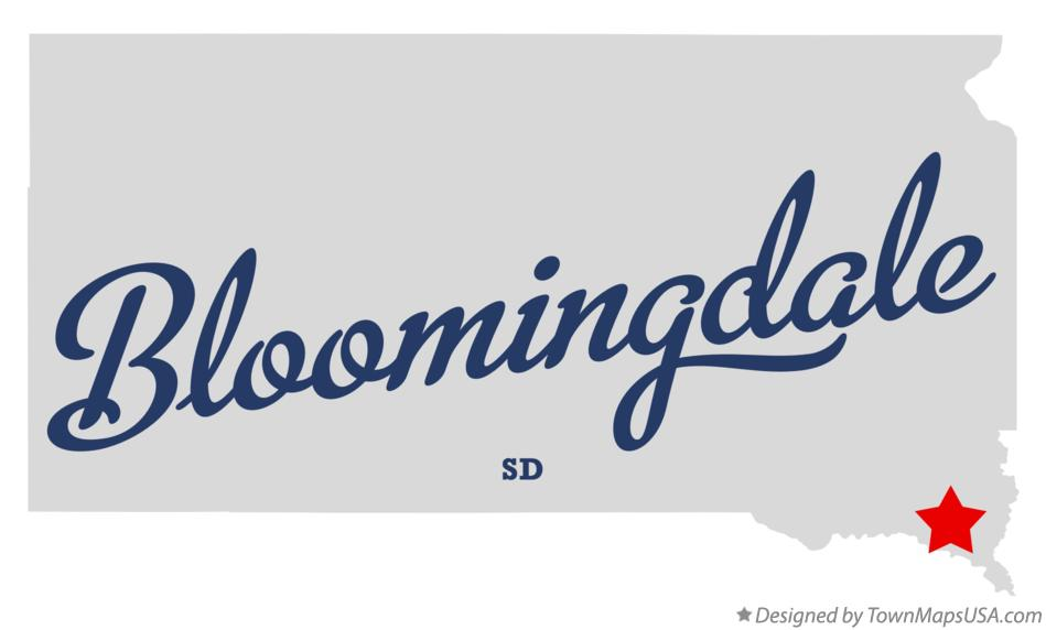 Map of Bloomingdale South Dakota SD