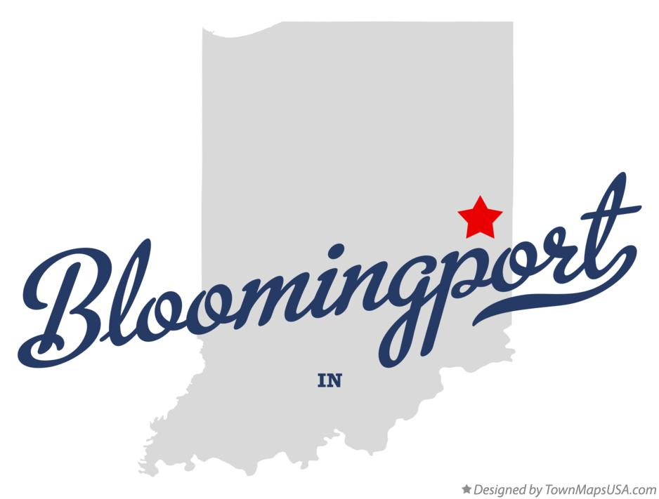 Map of Bloomingport Indiana IN