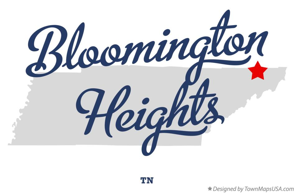 Map of Bloomington Heights Tennessee TN