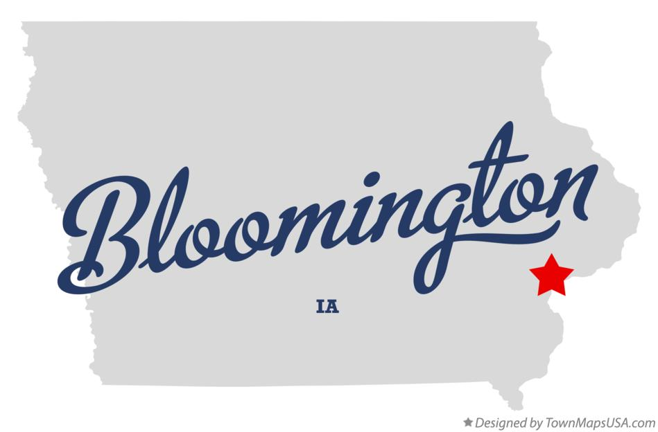 Map of Bloomington Iowa IA
