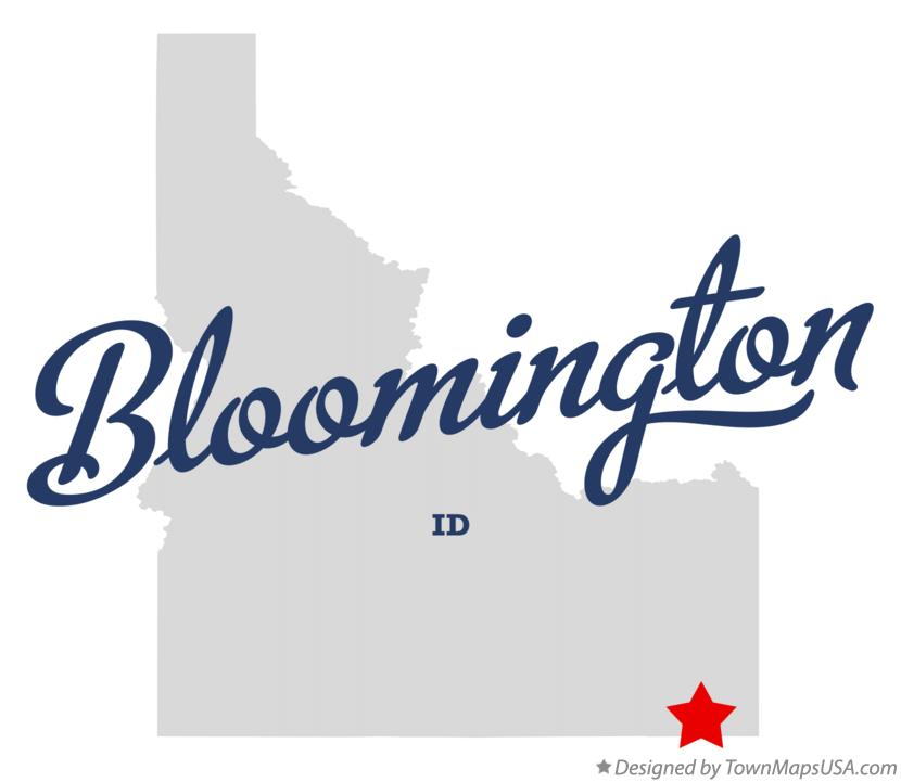 Map of Bloomington Idaho ID