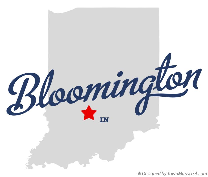 Map of Bloomington, IN, Indiana