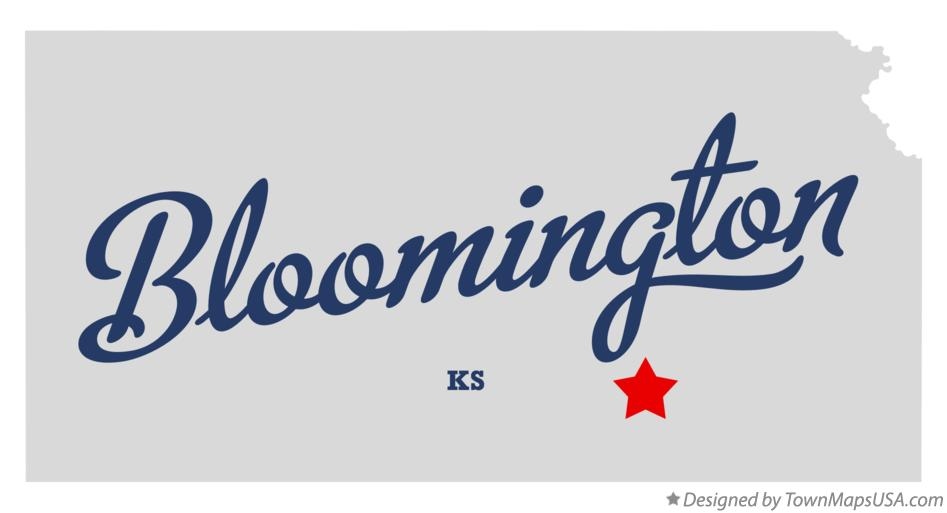 Map of Bloomington Kansas KS