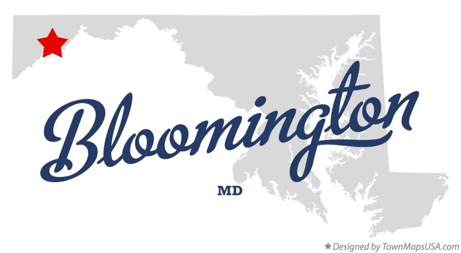 Map of Bloomington Maryland MD