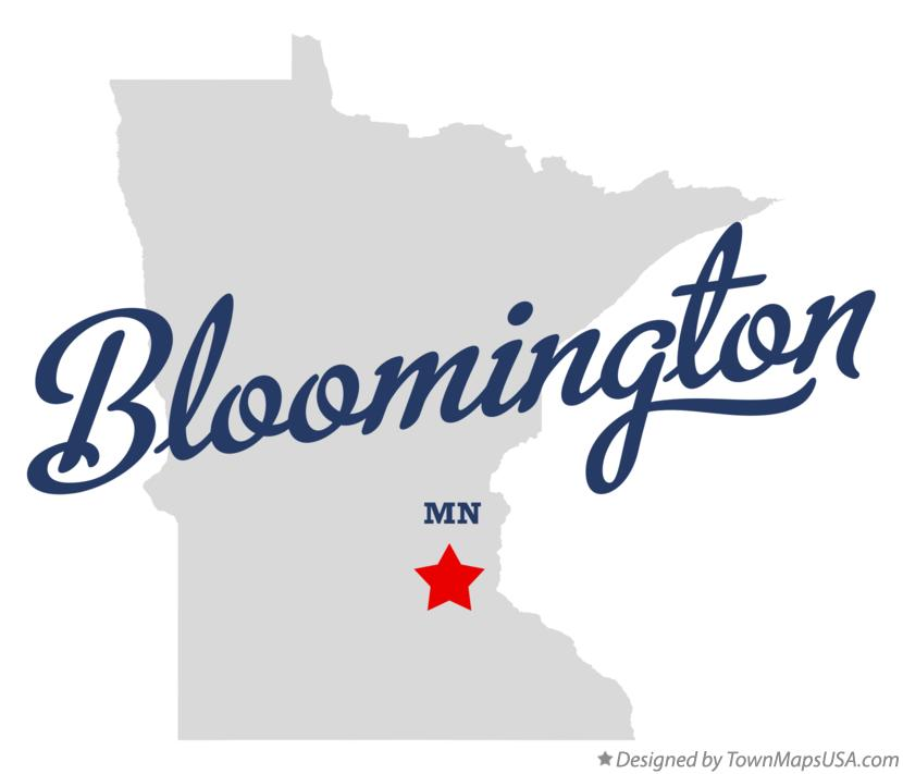 Map of Bloomington, MN, Minnesota