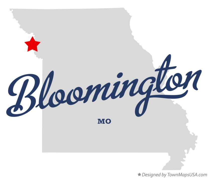 Map of Bloomington Missouri MO