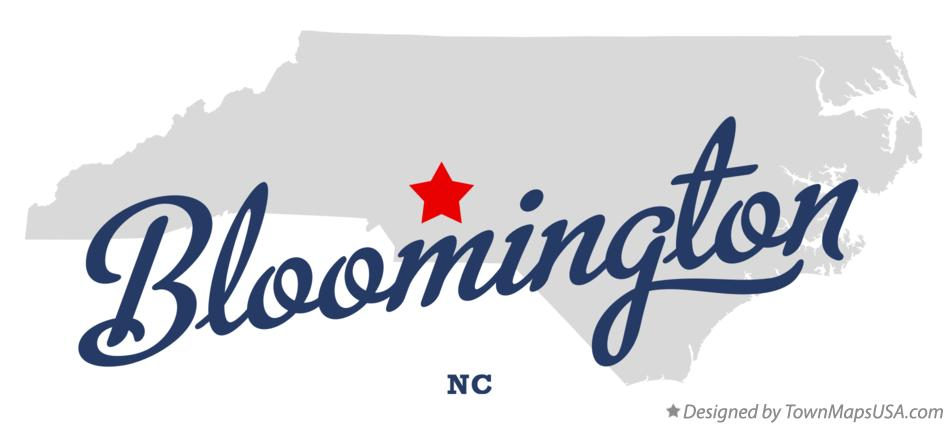 Map of Bloomington North Carolina NC