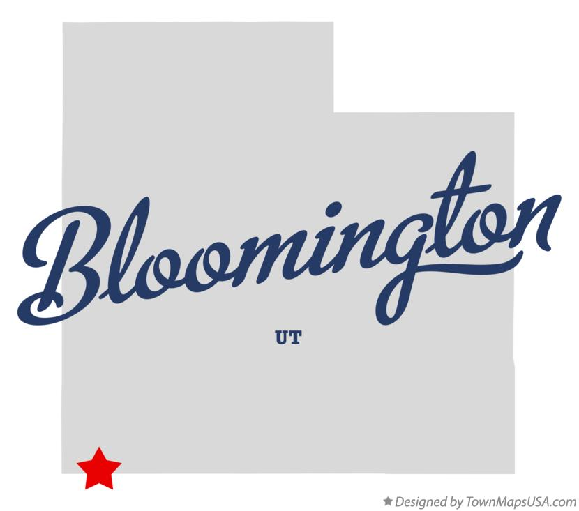 Map of Bloomington Utah UT