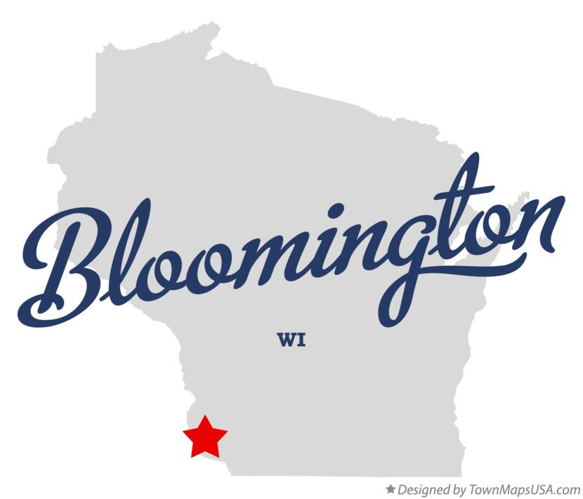 Map of Bloomington Wisconsin WI
