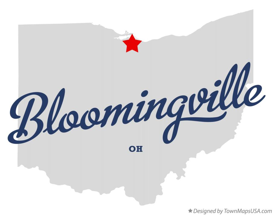 Map of Bloomingville Ohio OH