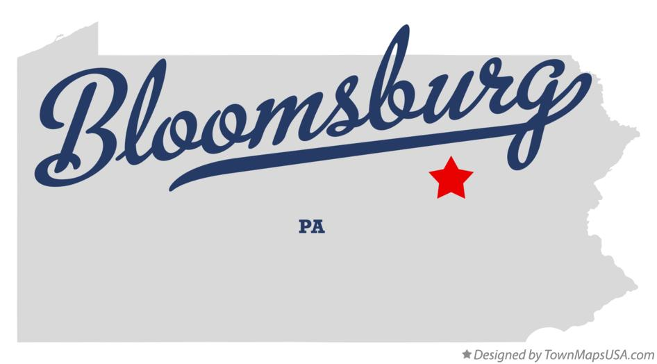 Map of Bloomsburg Pennsylvania PA
