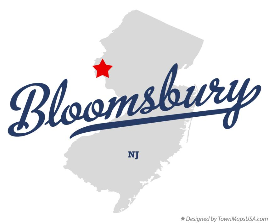Map of Bloomsbury New Jersey NJ