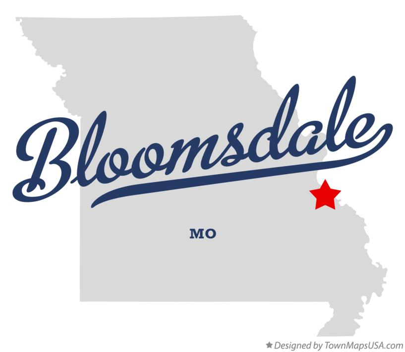 Map of Bloomsdale Missouri MO