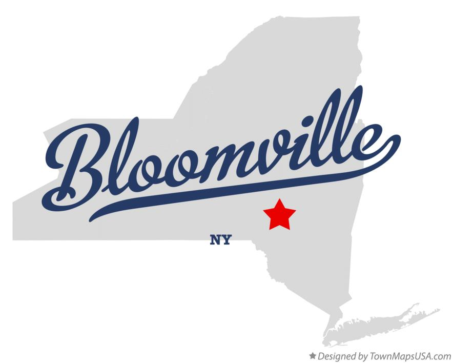 Map of Bloomville New York NY