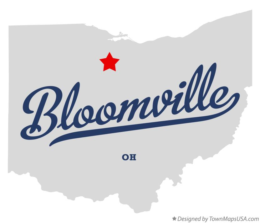 Map of Bloomville Ohio OH