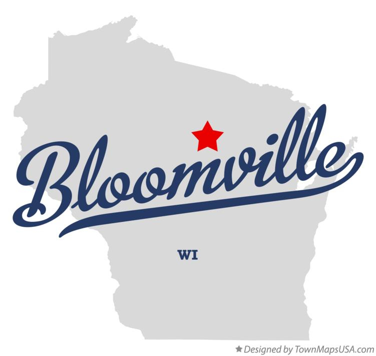 Map of Bloomville Wisconsin WI