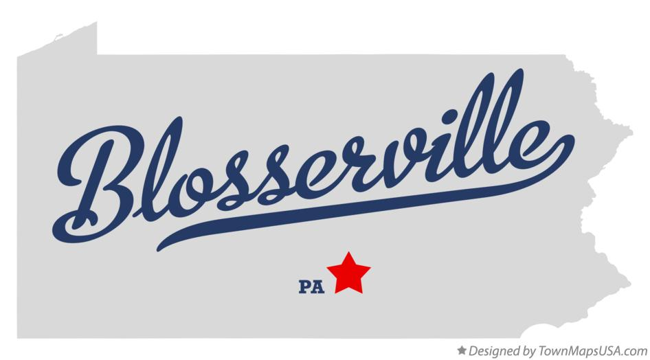 Map of Blosserville Pennsylvania PA