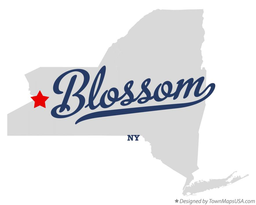 Map of Blossom New York NY