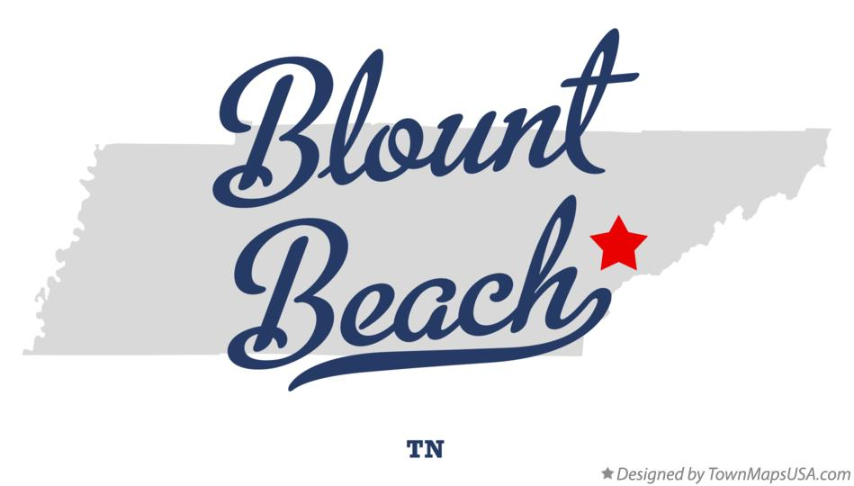 Map of Blount Beach Tennessee TN