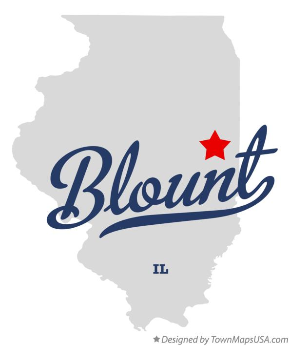Map of Blount Illinois IL